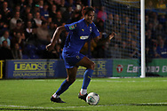 AFC Wimbledon defender Toby Sibbick (20) dribbling during the EFL Carabao Cup 2nd round match between AFC Wimbledon and West Ham United at the Cherry Red Records Stadium, Kingston, England on 28 August 2018.