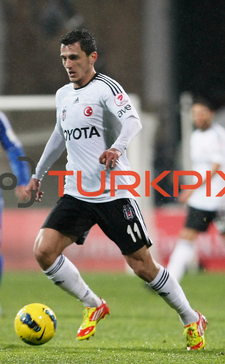 Besiktas's Mustafa Pektemek during their Turkey Cup matchday 3 soccer match Besiktas between Gaziantepspor BSB at the Inonu stadium in Istanbul Turkey on Wednesday 11 January 2012. Photo by TURKPIX