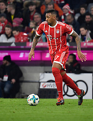 31.03.2018, Allianz Arena, Muenchen, GER, 1. FBL, FC Bayern Muenchen vs Borussia Dortmund, 28. Runde, im Bild Jerome Boateng FC Bayern München am Ball // during the German Bundesliga 28th round match between FC Bayern Munich and Borussia Dortmund at the Allianz Arena in Muenchen, Germany on 2018/03/31. EXPA Pictures © 2018, PhotoCredit: EXPA/ Eibner-Pressefoto/ Weber<br /> <br /> *****ATTENTION - OUT of GER*****
