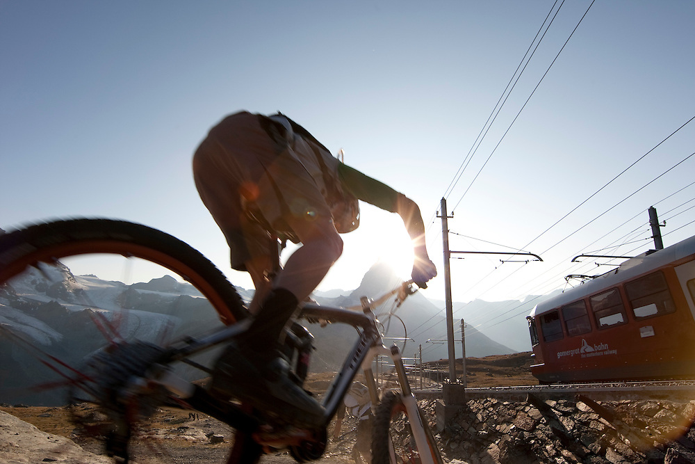 Rider: Ross Schnell.Location: Zermatt (Switzerland)