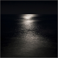 The sea lit up by a full-moon at Worthing, West Sussex. <br /> Photograph by Christopher Ison ©<br /> 07544044177<br /> chris@christopherison.com<br /> www.christopherison.com