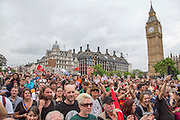 The crowds in Parliament square at the People's<br /> Assembly Against Austerity 'End Austerity Now' demonstration attended by over 250,000 people on Saturday 20th of June 2015 sending a clear message to the Tory government; demanding an alternative to austerity and to policies that only benefit those at the top. London, UK.