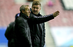 Charlton Athletic manager Karl Robinson with Lee Bowyer