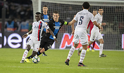 GUEYE Idrissa From PSG In action during the UEFA Champions League Group A football match Paris Saint-Germain (PSG) v Club Brugge at the Parc des Princes stadium in Paris, France, on November 6, 2019. Photo by Loic BaratouxABACAPRESS.COM