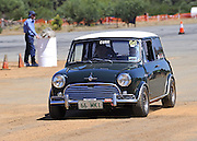 Classic British Racing Green Mini Cooper S at the Caversham Historic Motoring Fair. Caversham, Perth, Western Australia.<br /> Sunday, 15th November 2009