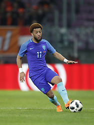Tonny Vilhena of Holland during the International friendly match match between Portugal and The Netherlands at Stade de Genève on March 26, 2018 in Geneva, Switzerland