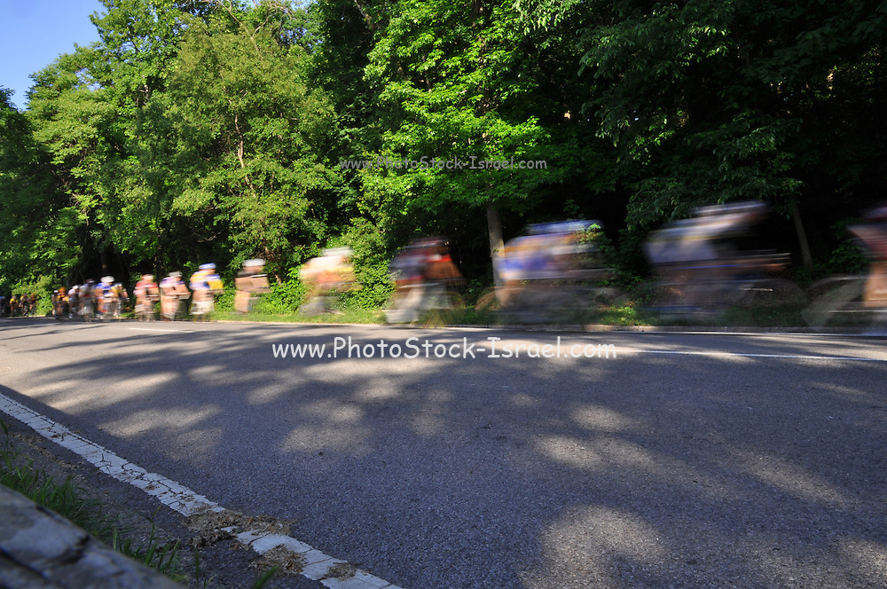 Central Park, New York City, USA bicycle riders motion blur
