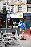 Street Furniture, Rue de l'Ecuyer, Brussels, Belgium.