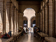 ITALY, RIMINI, the ancient fish market in piazza Cavour