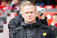 Walsall Manager Dean Keates before the EFL Sky Bet League 1 match between Walsall and Barnsley at the Banks's Stadium, Walsall, England on 23 March 2019.