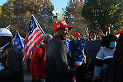 WASHINGTON, D.C: NOVEMBER 14, 2020-  Thousands of supporters of U.S. President Donald Trump attend the Million Maga March aka March for Trump held at Freedom Plaza and along the streets of Washington, D.C. in attempts of securing the win for four more years of President Trump on November 14, 2020 in Washington, D.C. Supporters march through the streets of D.C. from Freedom Plaza to the Supreme Court Building for a rally.    Terrence Jennings/Redux