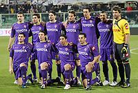"""Fiorentina Team<br /> Up: Alessandro Gamberini, Adrian Mutu, Massimo Gobbi, Alberto Gilardino, Dario Dainelli, Felipe Melo, Sebastien Frey<br /> Bottom: Manuel Pasqual, Riccardo Montolivo, Franco Semioli, Luciano Zauri<br /> Firenze 19/02/2009 Stadio """"Artemio Franchi""""<br /> Coppa Uefa 2008/2009<br /> Fiorentina-Ajax (0-1)<br /> Foto Luca Pagliaricci Insidefoto"""