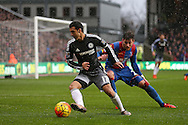 Pedro of Chelsea in action. Barclays Premier League match, Crystal Palace v Chelsea at Selhurst Park in London on Sunday 3rd Jan 2016. pic by John Patrick Fletcher, Andrew Orchard sports photography.