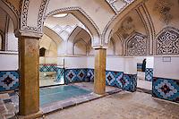 Iran, Province d'Ispahan, Kashan, Bagh-e-Fin, jardin Perse inscrit au patrimoine de l'UNESCO, le hammam // Iran, Isfahan province, Kashan city, Bagh-e-Fin, persain garden, world heritage of the UNESCO, hammam or bathhouse