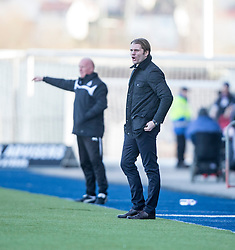 Hearts Head Coach Robbie Neilson.<br /> Falkirk 0 v 3 Hearts, Scottish Championship game played 21/3/2015 at The Falkirk Stadium.