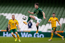 DUBLIN, REPUBLIC OF IRELAND - Sunday, October 11, 2020: Republic of Ireland's Robbie Brady during the UEFA Nations League Group Stage League B Group 4 match between Republic of Ireland and Wales at the Aviva Stadium. The game ended in a 0-0 draw. (Pic by David Rawcliffe/Propaganda)