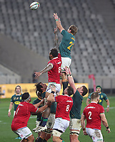 Rugby Union - 2021 British & Irish Lions Tour of South Africa - Second Test: South Africa vs British & Irish Lions<br /> <br /> Kwagga Smith wins a line-out, at Cape Town Stadium, Cape Town.<br /> <br /> COLORSPORT / JOHAN ORTON