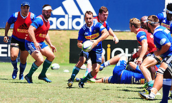 Cape Town-180213 Dewaldt Duvenage of Stomers at training sesision at the Bellville HPC this morning,preparing for their Super 15 game against Jaguares at Newlands on saterday .pic Phando Jikelo/African News Agency/ANA
