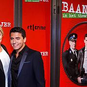 NLD/Amsterdam/20130107 - Premiere toneelstuk Baantjer, Jan Smit en partner Liza Plat