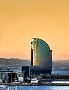 Hotel W or Hotel Vela by architect Ricardo Bofill, Barcelona, Spain