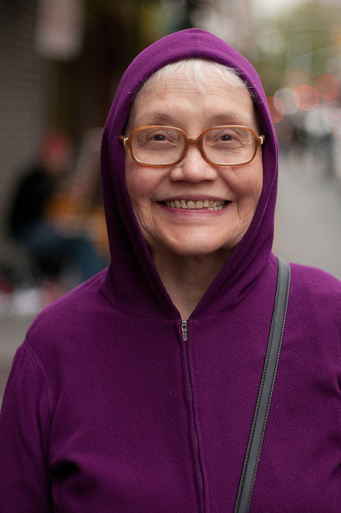 Photographs of people on the street in New York City.