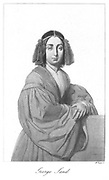 George Sand (1804-1876) (Amandine Aurore Lucie Dudevant) French Romantic novelist, Chopin's lover for 8 years: also of Prosper Merimee and Alfred de Musset.
