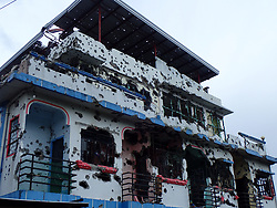 July 3, 2017 - Marawi City, Philippines - Heavily damaged house in Brgy. Malutlut, Marawi City where the first intense fight between Maute and government soldiers occurred. (Credit Image: © Sherbien Dacalanio/Pacific Press via ZUMA Wire)