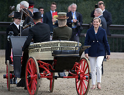 The Countess of Wessex (right) greets her daughter Lady Louise Windsor at the Champagne Laurent-Perrier Meet of the British Driving Society at the Royal Windsor Horse Show, which is held in the grounds of Windsor Castle in Berkshire.