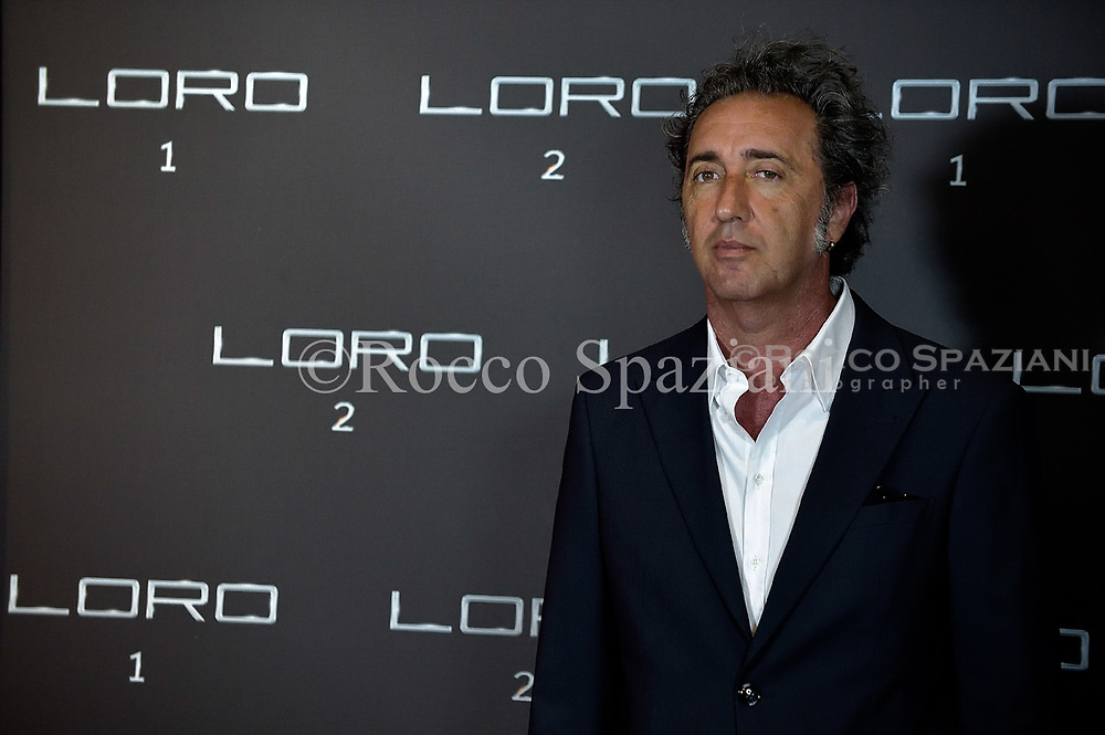 Italian director Paolo Sorrentino attends Movie  'Loro 2' photocall on May 2, 2018 in Rome, Italy.