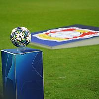 06.11.2019, BayArena, Leverkusen, Championsleague, Vorrunde, 4. Spieltag, GER, UEFA  CL, Bayer 04 Leverkusen (GER) vs. Atletiko Madrid (ESP),<br />  <br /> UEFA regulations prohibit any use of photographs as image sequences and/or quasi-video<br /> <br /> im Bild / picture shows: <br /> der Spielball <br /> <br /> Foto © nordphoto / Meuter<br /> <br /> <br /> <br /> Foto © nordphoto / Meuter