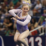 MyKayla Skinner, Gilbert, Arizona, in action during the Floor Exercise during the Senior Women Competition at The 2013 P&G Gymnastics Championships, USA Gymnastics' National Championships at the XL, Centre, Hartford, Connecticut, USA. 15th August 2013. Photo Tim Clayton