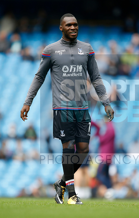 Christian Benteke of Crystal Palace during the premier league match at the Etihad Stadium, Manchester. Picture date 22nd September 2017. Picture credit should read: Simon Bellis/Sportimage