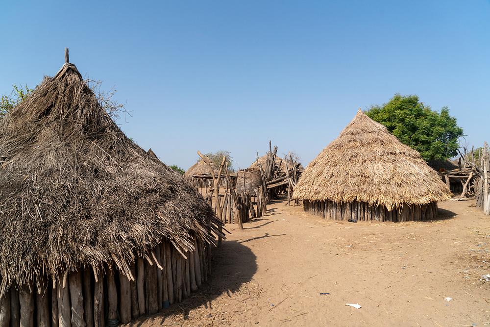A series of dwellings in the Karo Village, Ethiopia. Photo by Adel B. Korkor.