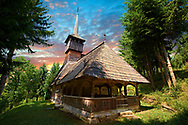"""Wood Churches ( Biserica de lemn ) - The """" Adormirea Maicii Domnulu"""" Susani , Maramures, Northern Transylvania, Romania .<br /> <br /> Visit our ROMANIA HISTORIC PLACXES PHOTO COLLECTIONS for more photos to download or buy as wall art prints https://funkystock.photoshelter.com/gallery-collection/Pictures-Images-of-Romania-Photos-of-Romanian-Historic-Landmark-Sites/C00001TITiQwAdS8<br /> .<br /> Visit our MEDIEVAL PHOTO COLLECTIONS for more   photos  to download or buy as prints https://funkystock.photoshelter.com/gallery-collection/Medieval-Middle-Ages-Historic-Places-Arcaeological-Sites-Pictures-Images-of/C0000B5ZA54_WD0s"""