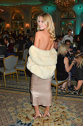 KIMBERLEY GARNER at the Quintessentially Foundation's Poker Night held at The Savoy, London on 13th October 2016.