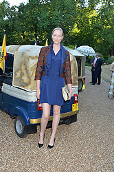 JADE PARFITT at the Quintessentially Foundation and Elephant Family 's 'Travels to My Elephant' Royal Rickshaw Auction presented by Selfridges and hosted by HRH The Prince of Wales and The Duchess of Cornwall held at Lancaster House, Cleveland Row, St.James's, London on 30th June 2015.