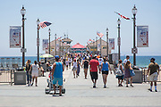 Busy Huntington Beach Pier During Summer