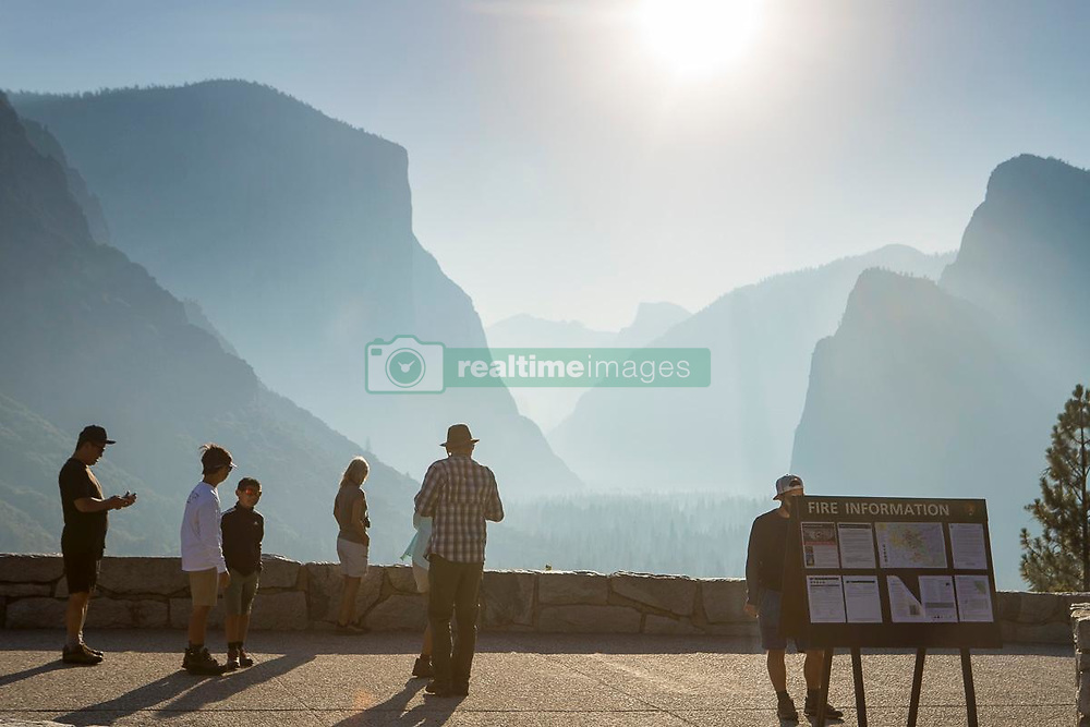 July 26, 2018 - Yosemite, California, U.S. - Smokey Valley View from Tunnel View. A wildfire has burned through more than 38,000 acres near Yosemite National Park in California, and it hasn't stopped for two weeks. The Ferguson Fire has continued since the fire started west of Yosemite on July 13, aided by high temperatures and dry air. The wildfire has injured seven firefighters and killed one. (Credit Image: © Cal Fire via ZUMA Wire/ZUMAPRESS.com)
