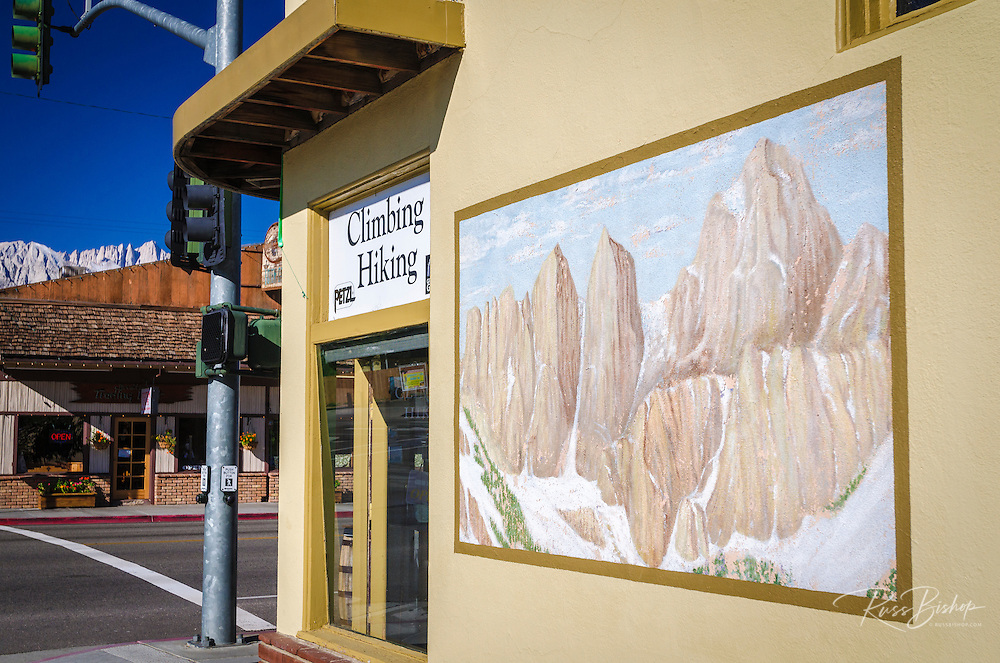 Mural of Mount Whitney in Lone Pine, California USA