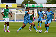 Kane Wilson (2) of Forest Green Rovers on the attack during the Pre-Season Friendly match between Yeovil Town and Forest Green Rovers at Huish Park, Yeovil, England on 31 July 2021.