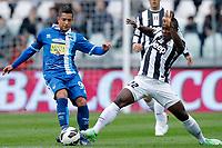 Gianluca Caprari Pescara, Kwadwo Asamoah Juventus, Torino 6/4/2013 .Juventus Stadium.Football Calcio 2012/2013 Serie A.Juventus Vs Pescara.Foto Marco Bertorello Insidefoto