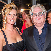 NLD/Amsterdam/20161013 - Televiziergala 2016, Anette Barlo en partner Frank Timmer