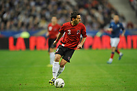 FOOTBALL - UEFA EURO 2012 - QUALIFYING - GROUP STAGE - GROUP D - FRANCE v ALBANIA - 07/10/2011 - PHOTO GUY JEFFROY / DPPI - KRISTI VANGJELI (ALB)