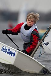 © Sander van der Borch. Braassemermeer, Roelofarendsveen. Practice day dutch Optimist jeugd- en kernploeg (7 march 2009).