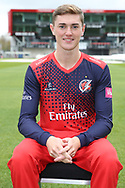 Lancashires George Balderson during the Lancashire County Cricket Club at the Emirates, Old Trafford, Manchester, United Kingdom on 3 April 2019.
