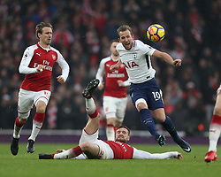 18 November 2017 London : Premier League Football : Arsenal v Tottenham Hotspur - Harry Kane of Tottenham is fouled by Shkodran Mustafi of Arsenal.<br /> (photo by Mark Leech)