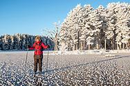 ÖSTERSUND 202101206<br /> Skridskotur vid Anderson en solig och kall onsdag i januari. <br /> <br /> Foto: Per Danielsson/Projekt.P