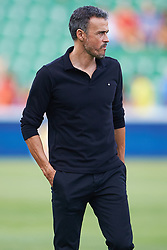 September 11, 2018 - Elche, Alicante, Spain - Luis Enrique coach looks on during the UEFA Nations League football match between Spain and Croatia at Martinez Valero Stadium in Elche on September 11, 2018  (Credit Image: © Sergio Lopez/NurPhoto/ZUMA Press)