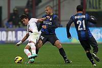 "Paulo Dybala Palermo Walter Samuel Inter.Milano 02/12/2012 Stadio ""San Siro"".Football Calcio Serie A 2012/13.Inter v Palermo.Foto Insidefoto Paolo Nucci."