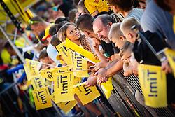 Fans waiting for Tim Gajser before sprejem Tima Gajsreja, on Avgust 27, 2019 in Maribor, Slovenia. Photo by Blaž Weindorfer / Sportida